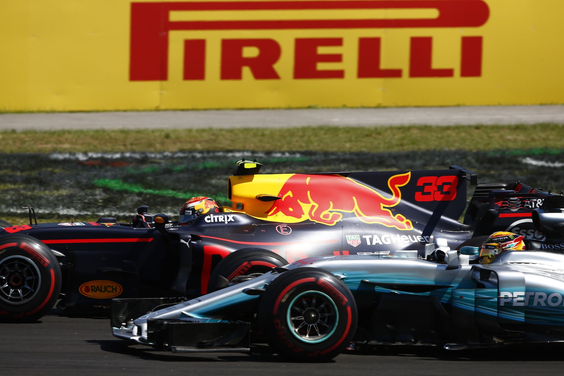 D 2017 Max and Lewis at the Hungarian GP start 1Photo by Andy Hone:LAT Images copy.jpg