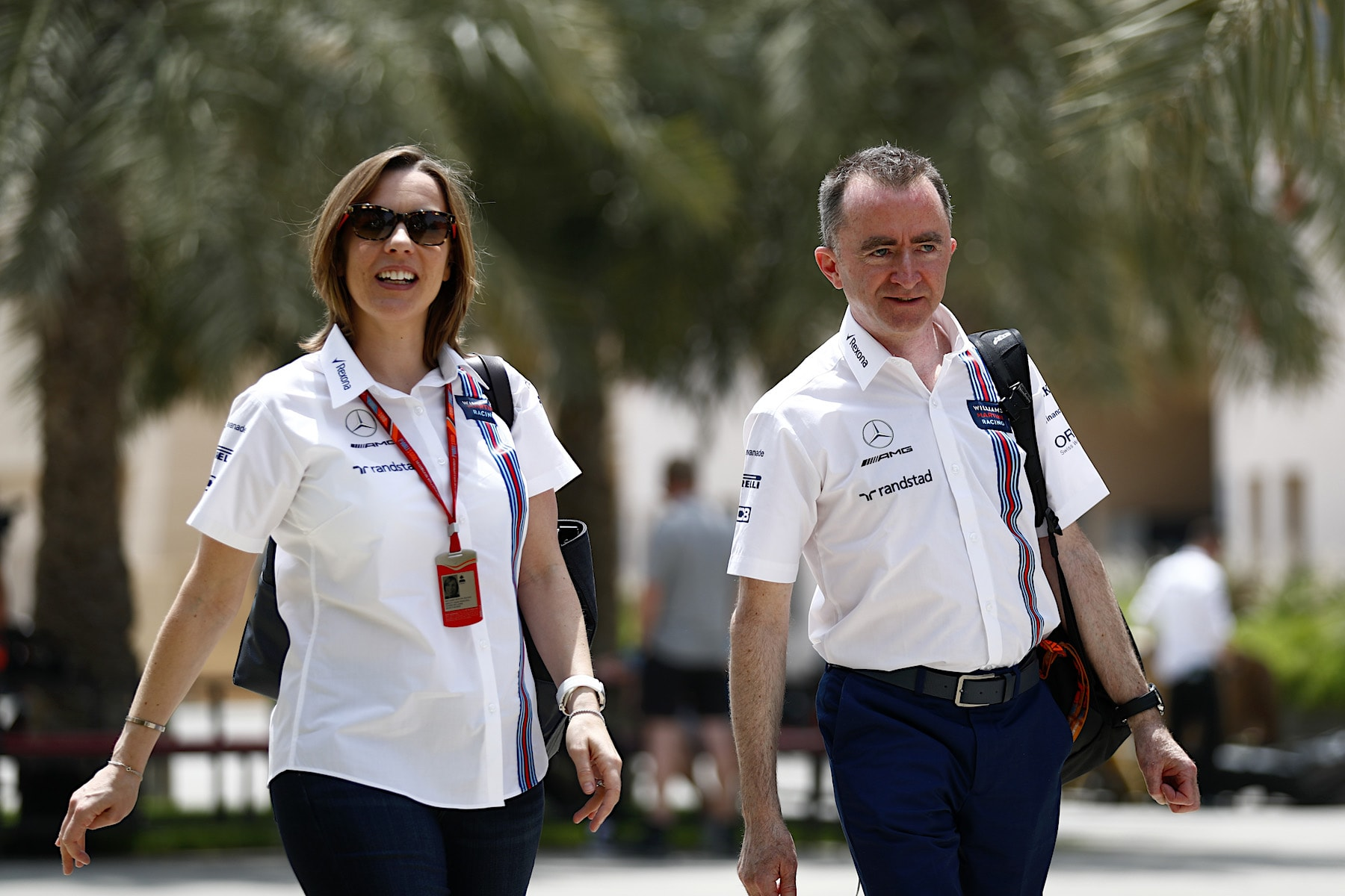 Claire Williams and Paddy Lowe | Bahrain 2017