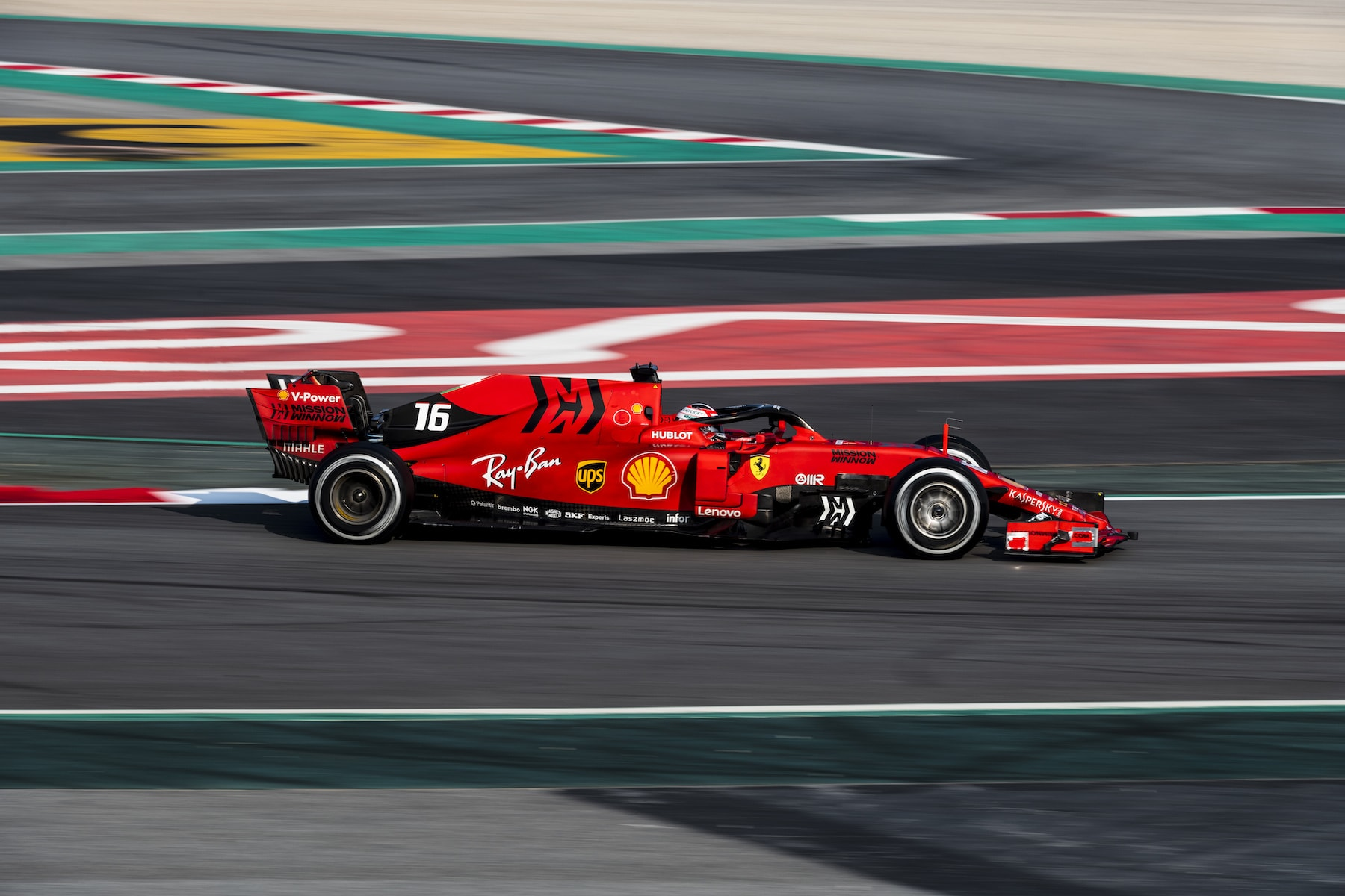 2019 Charles Leclerc | Ferrari SF90 | 2019 Barcelona T2 D1 1.jpg