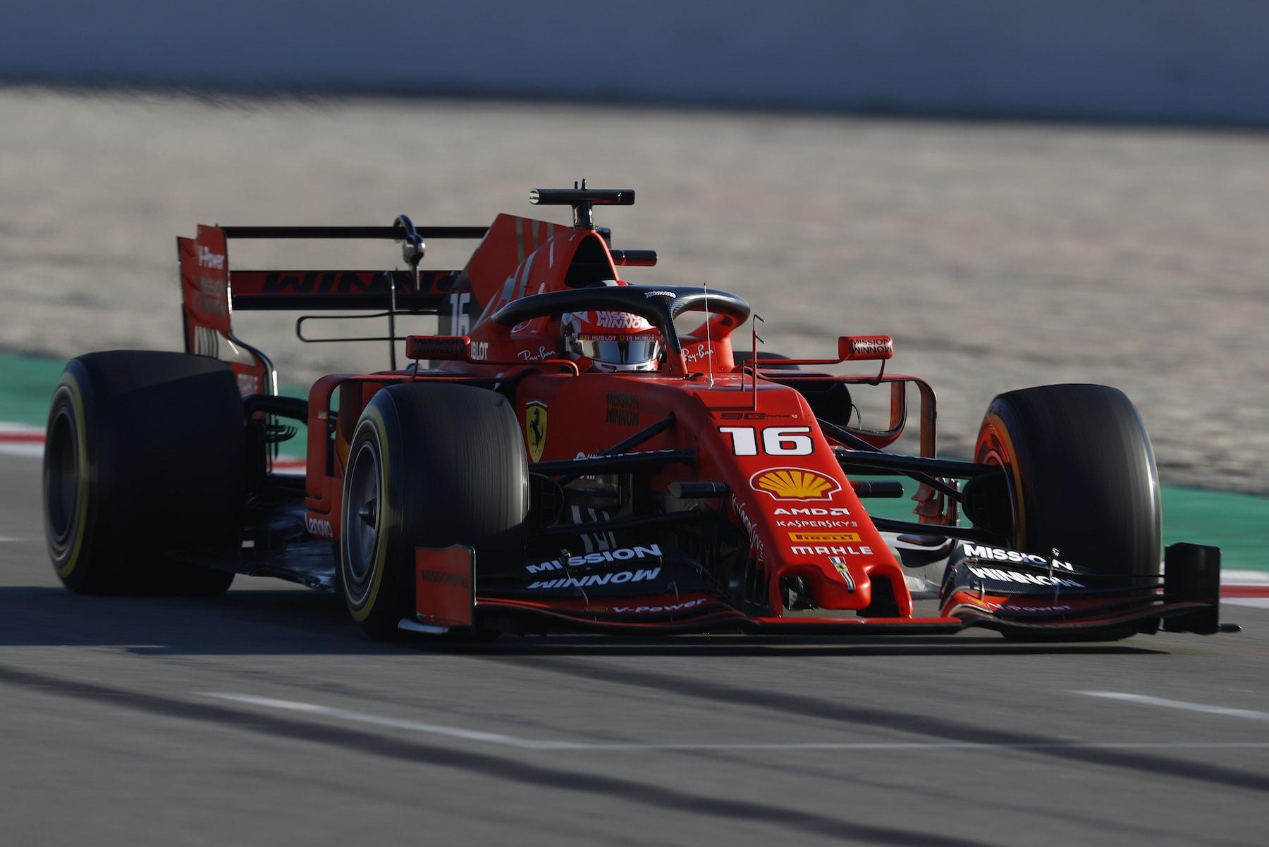 2019 Charles Leclerc | Ferrari SF90 | 2019 Barcelona T2 D1 3.jpg
