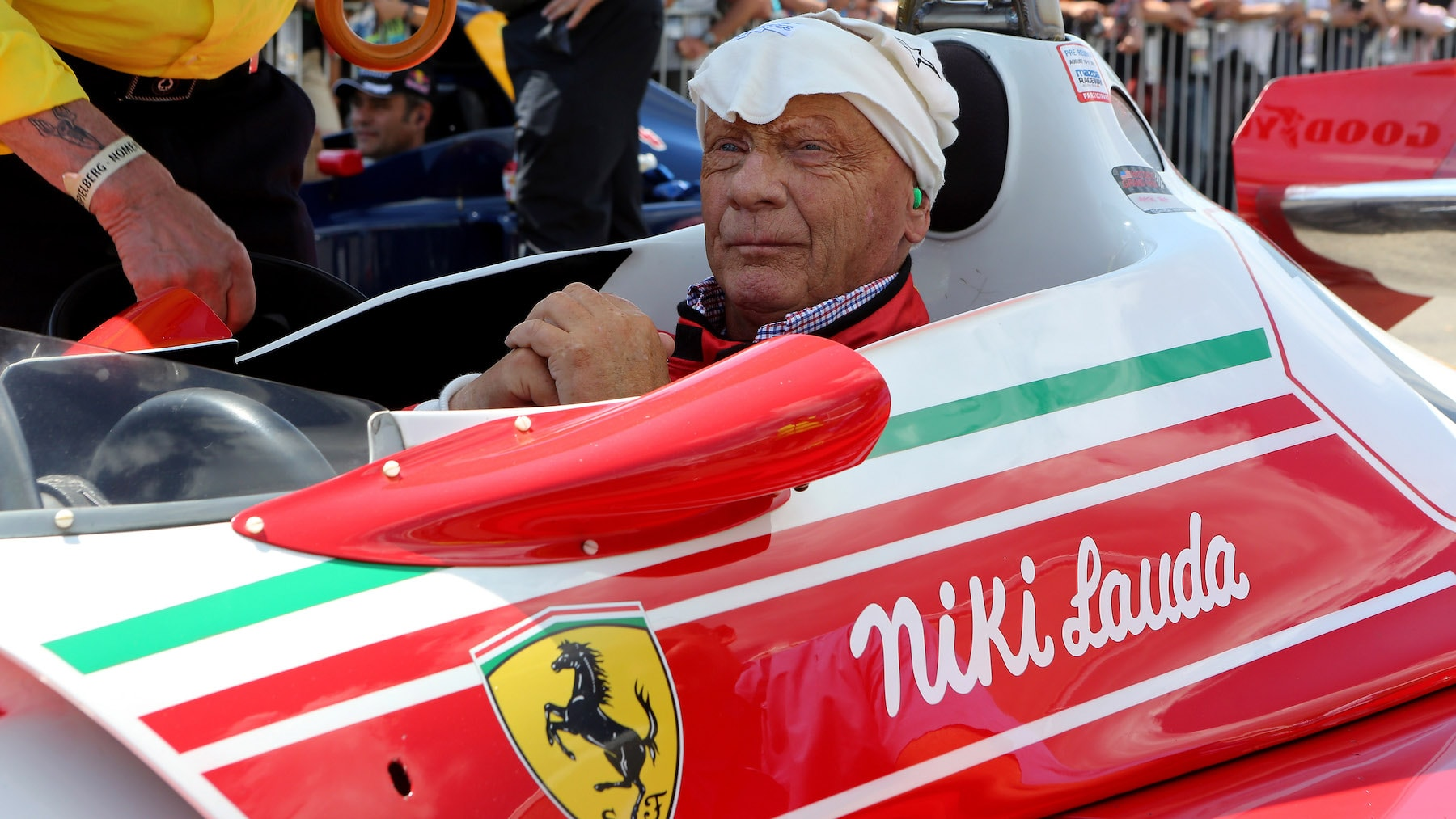 2014 Austria Niki Lauda in his WDC winning 1977 Ferrari 312T2B copy.jpg