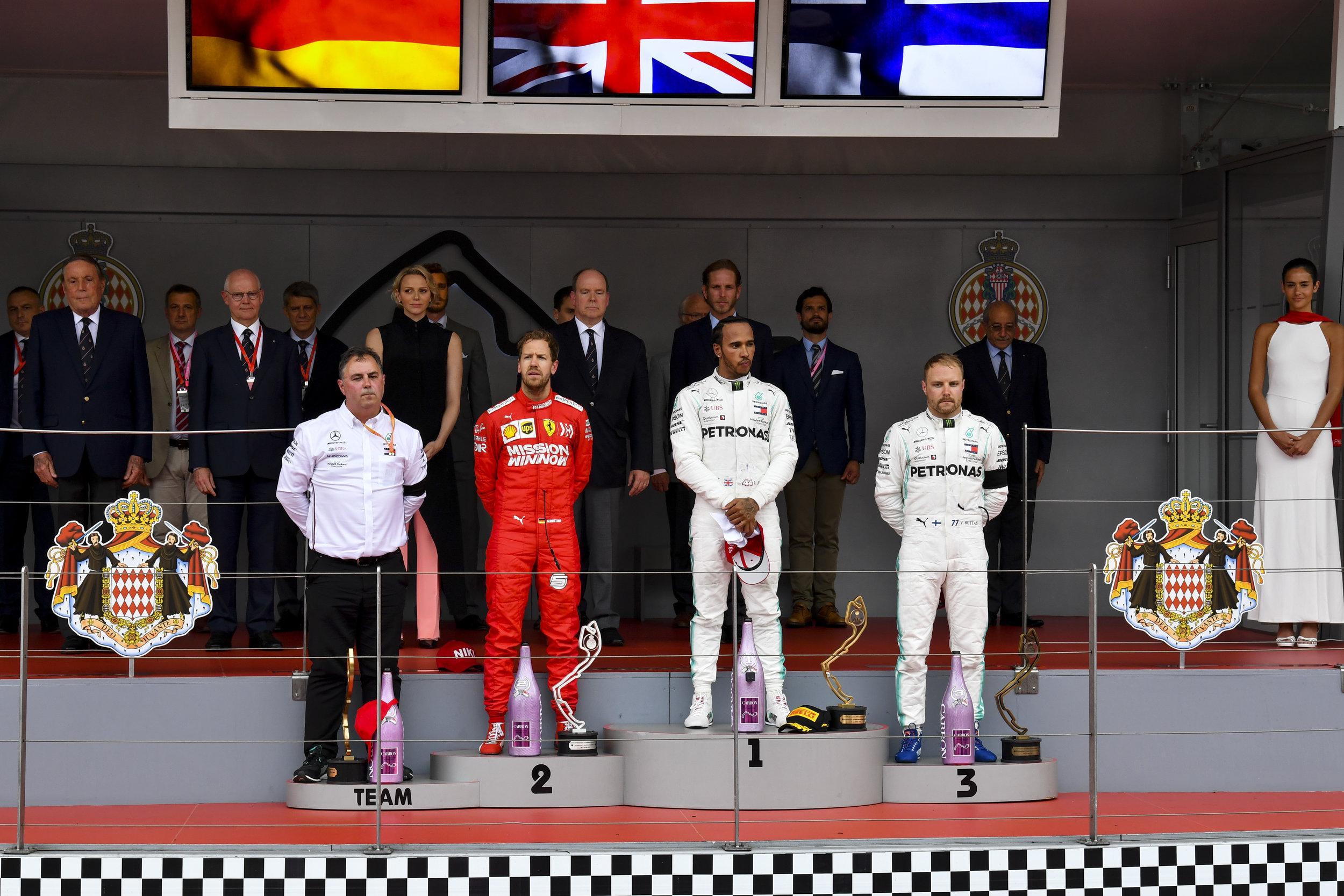 The 2019 Monaco Grand Prix Podium