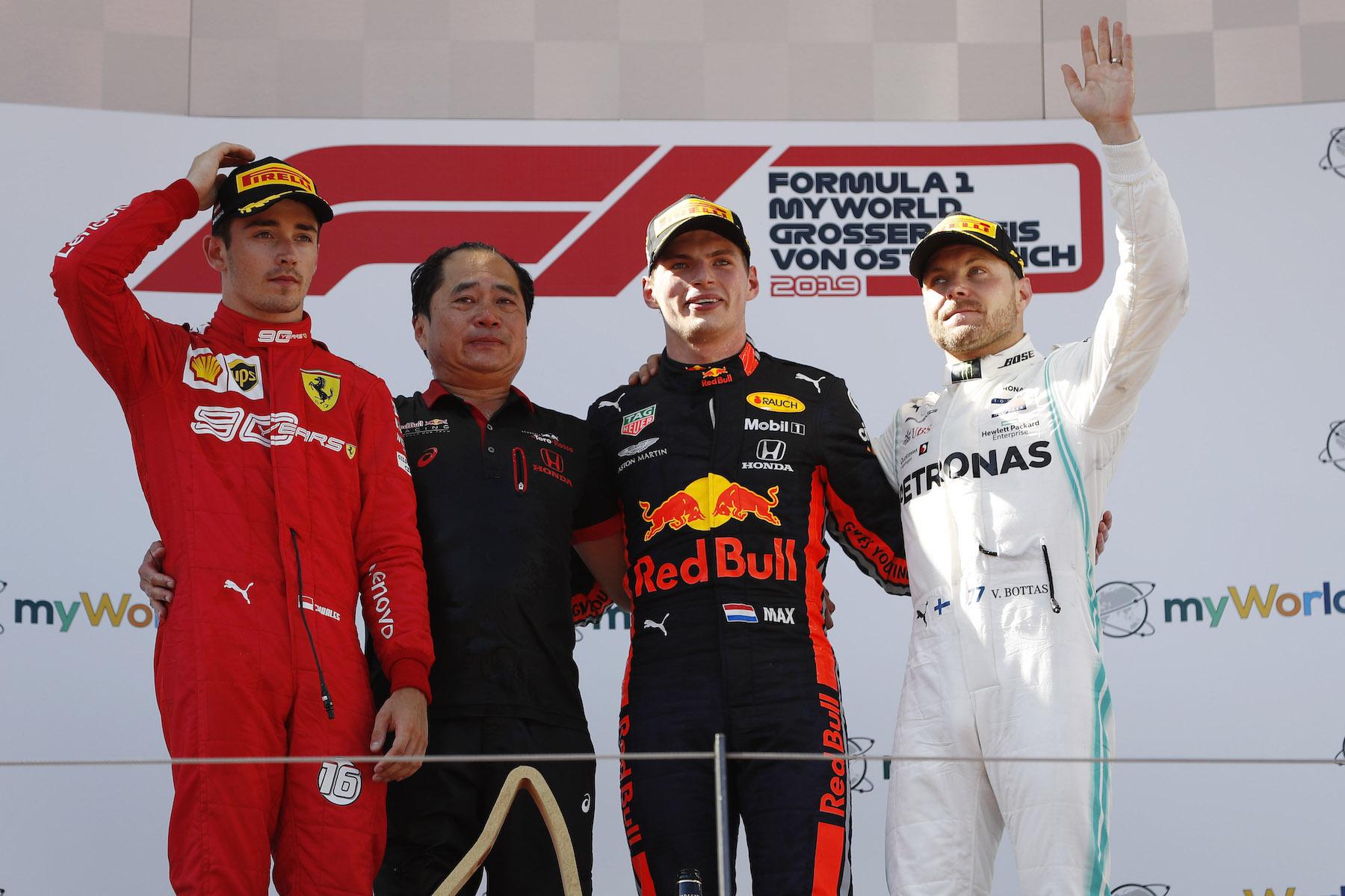 2019 Austrian Grand Prix podium