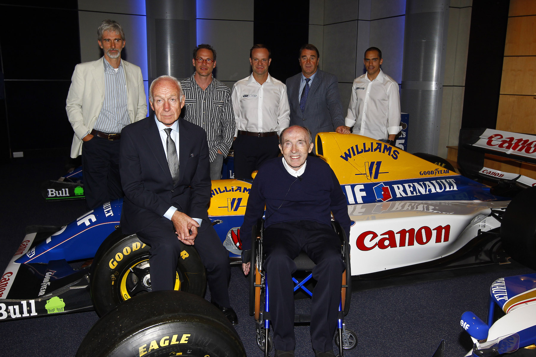 Sir Frank Williams and the Williams FW14B.jpg