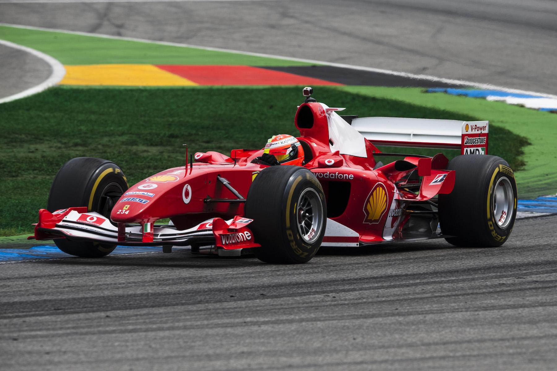 2019 Mick Schumacher | Ferrari F2004 | 2019 German GP 5 copy.jpg