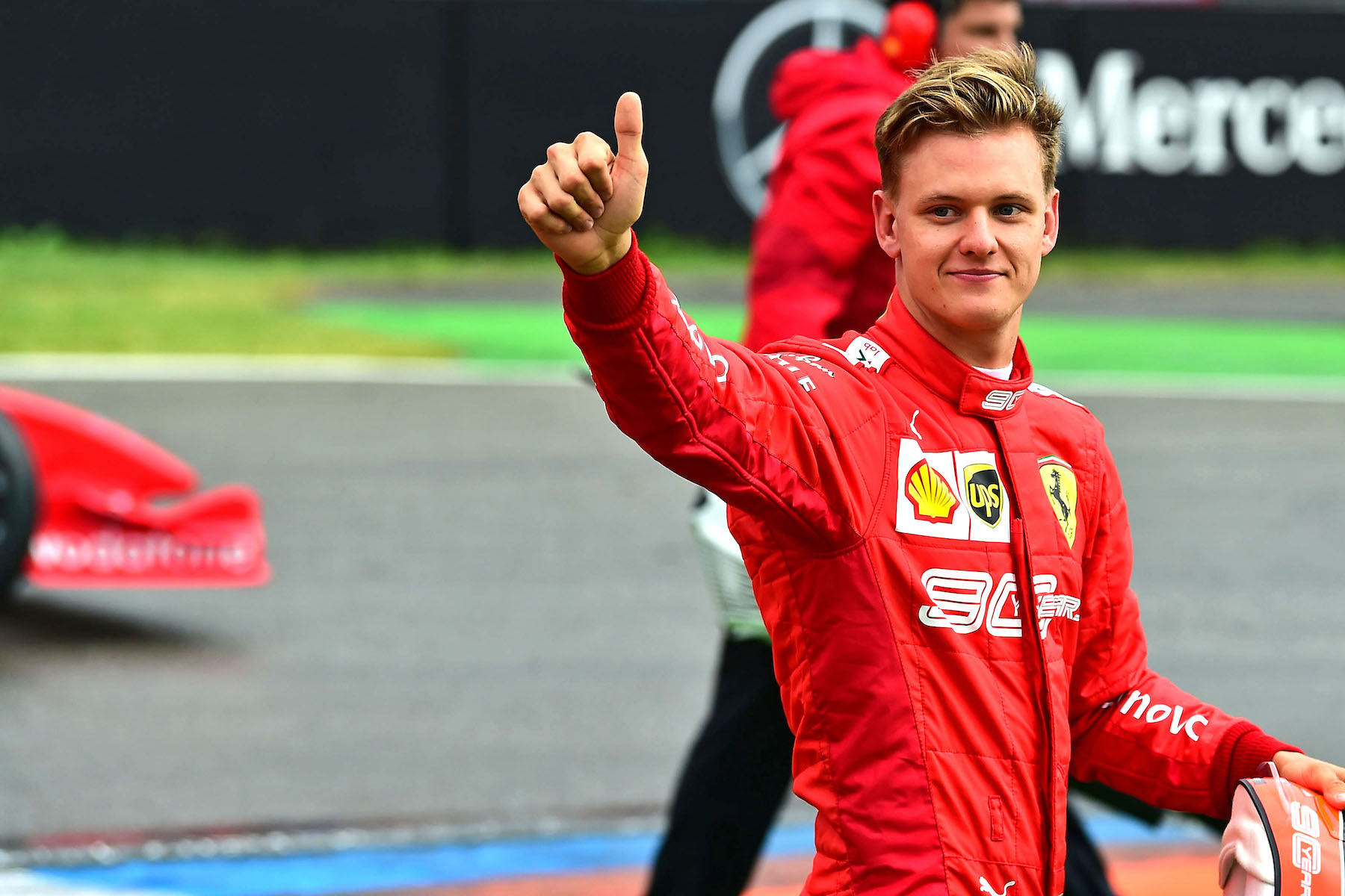 2019 Mick Schumacher | Ferrari F2004 | 2019 German GP 16 copy.jpg