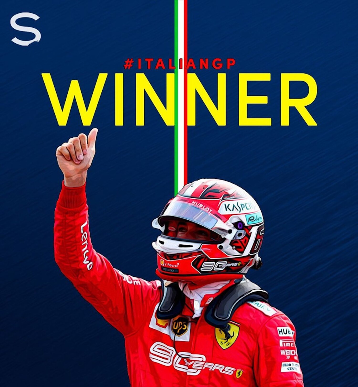 Charles Leclerc winner at Monza 2019