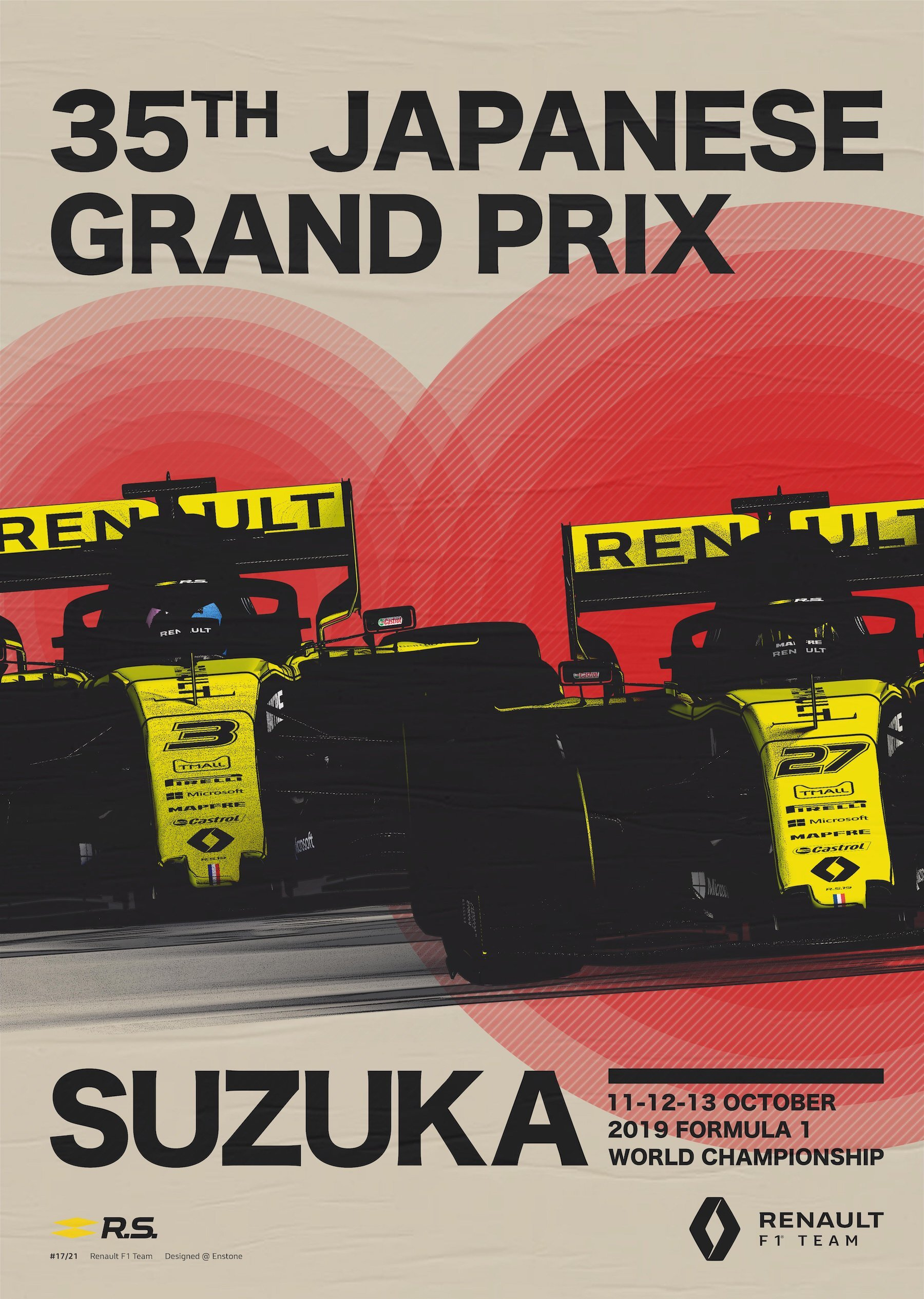 The 2019 Renault Sport Grand Prix Posters