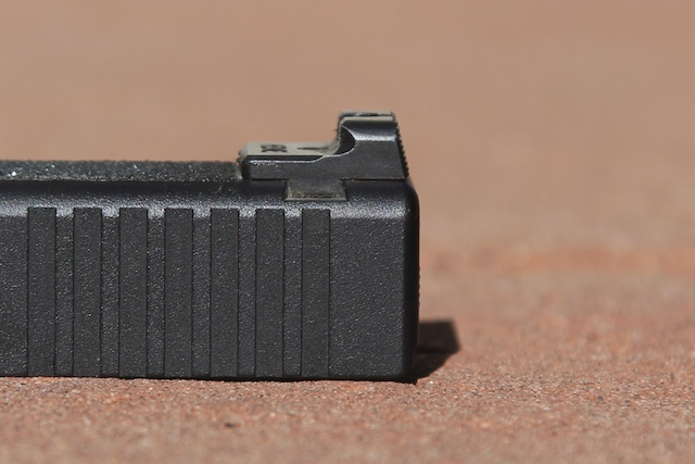 Heinie Ledge rear sight.  Great for one-handed gun manipulation.