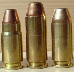 Left to right: .357 SIG, 10mm, .40 S&W (Wikipedia)
