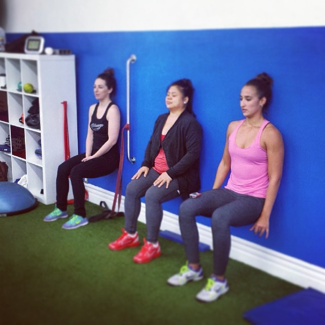 Time for some wall sits. #smacstrong  #smacfriends #sanmarinoathleticclub