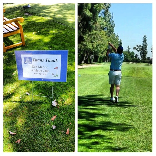 SMAC clients crushing the ball on the SMAC hole #titanclassic #SMACtraining