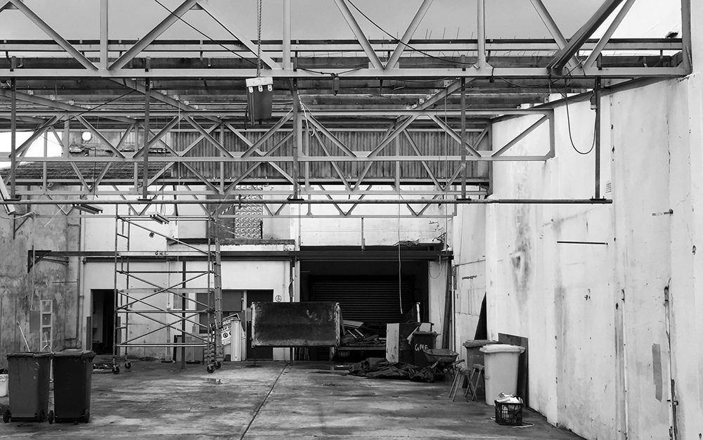 Our warehouse apartment conversion has started on site in Marrickville. The original factory external brick façade will remain, with steel cladding and concrete details maintaining a strong industrial aesthetic. A central courtyard allows abundant light into the new units, as well as providing separation for visual and acoustic privacy.