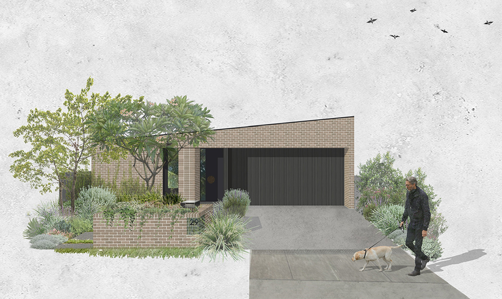 We have recently started work on the design for an exciting new residence in Newcastle. The proposal is based around replacing an existing project home with a more efficient and compact dwelling to suit the needs of a couple. The house is configured as a courtyard scheme, with all the living spaces facing north. The landscaping and gardens form an integral part of the design, allowing multiple garden vistas from all the main living spaces.