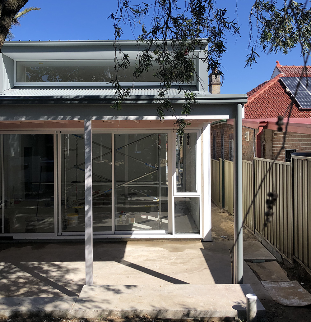 We have recently completed an extension to a beautiful Federation-style house in Dulwich Hill. The original house has been lovingly restored by the owners, with the extension carefully crafted by Miso Building. The extension utilises a series of folded roof forms to control natural light and views of the landscaped garden. We are excited to see the clients settling into the house.