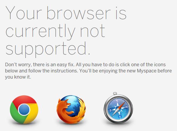 new myspace 404 screen for internet explorer