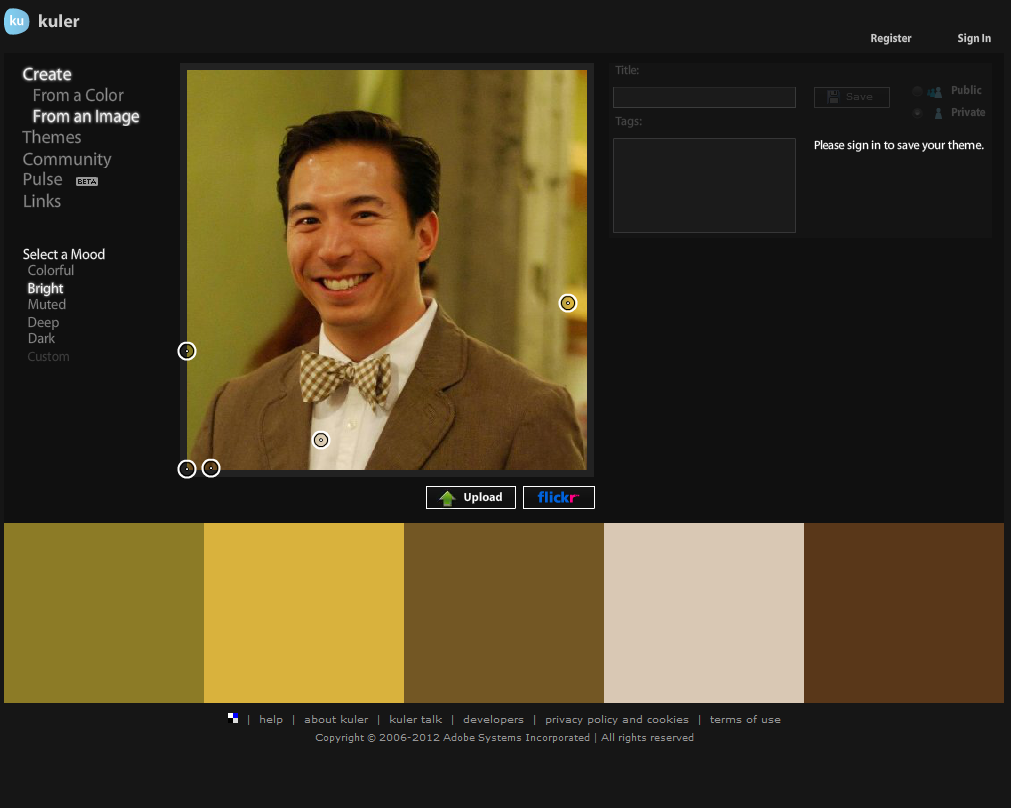 kuler color palette generator by Adobe