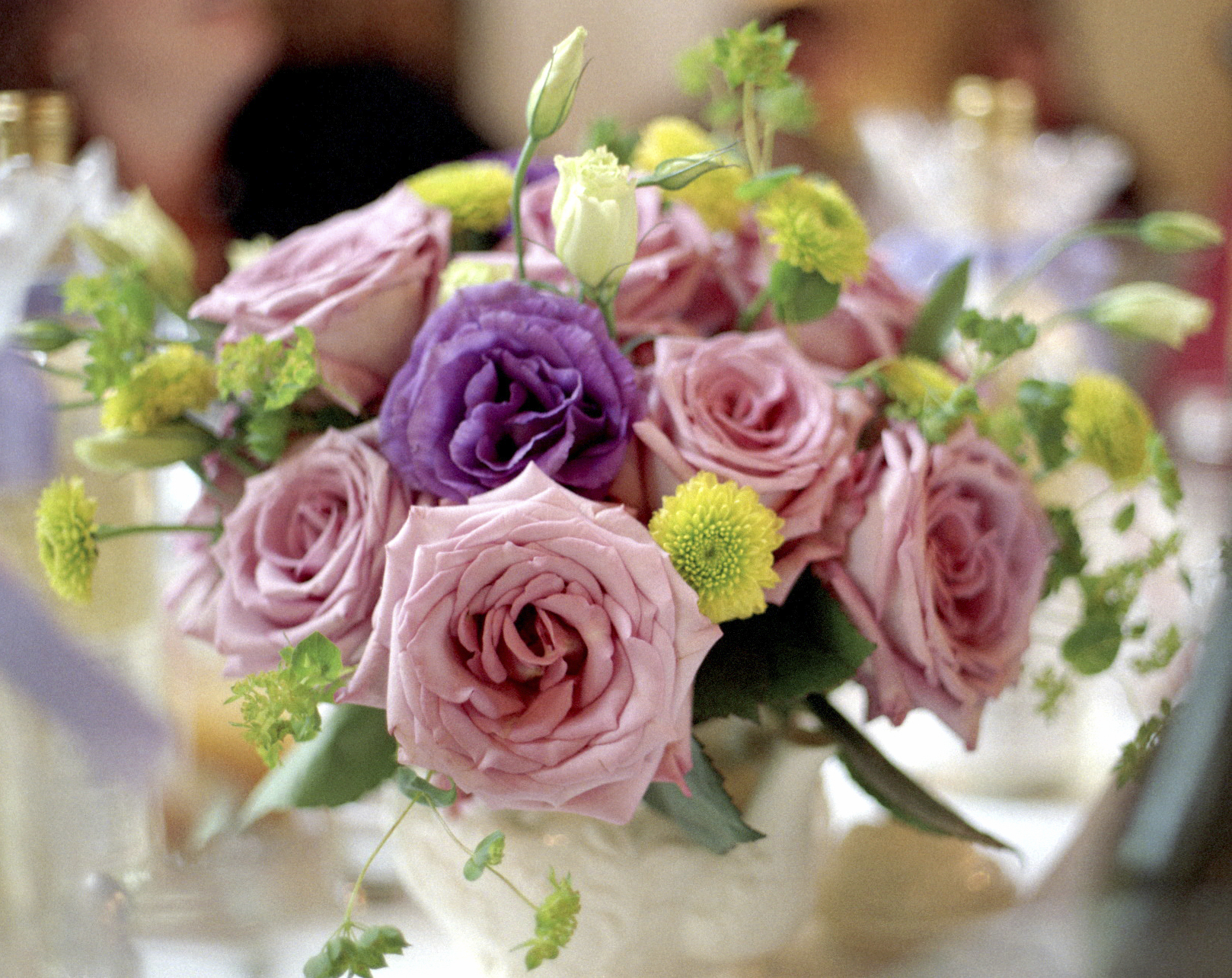 bouquet on table pick roses istock.jpg