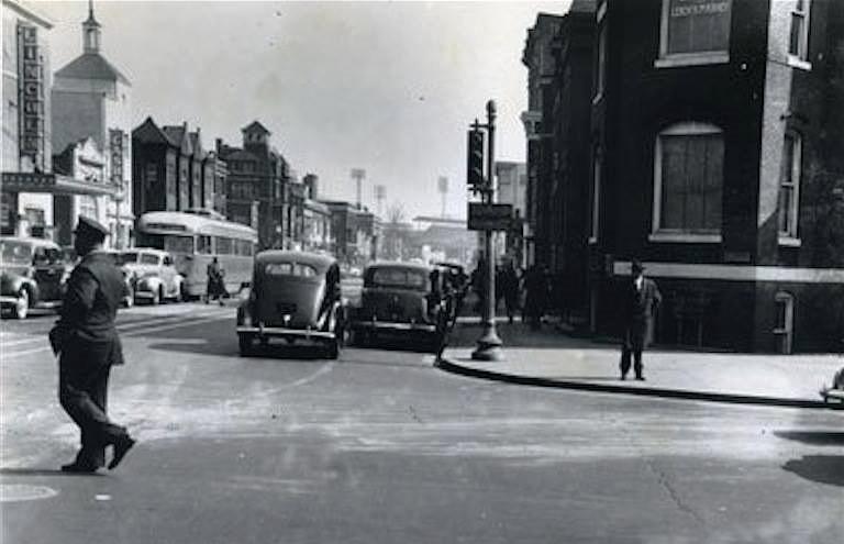 "13th & U Streets, NW aka ""Black Broadway"" in WDC, circa 1939"
