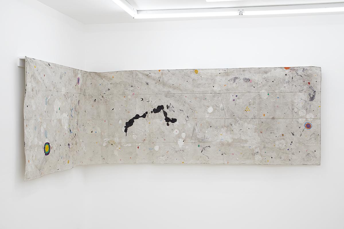 """Black Velvet"", 2014,  Oil on drop cloth,  180 x 48 in  457 x 120 cm"