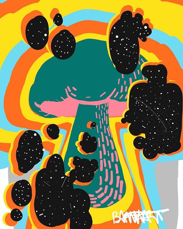 Sometimes tomorrow leaves us waiting #mushroom #wormhole #drawing #illustration #art #artoftheday #beautiful #instaart #creative #