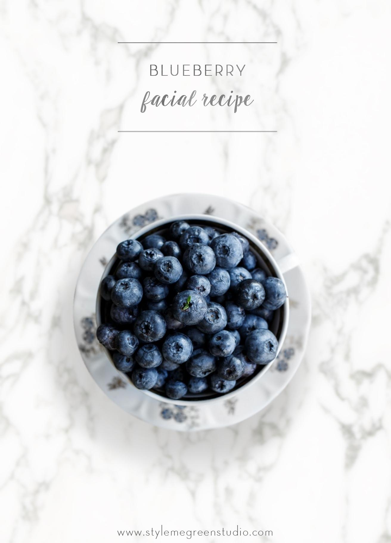 blueberry facial recipe