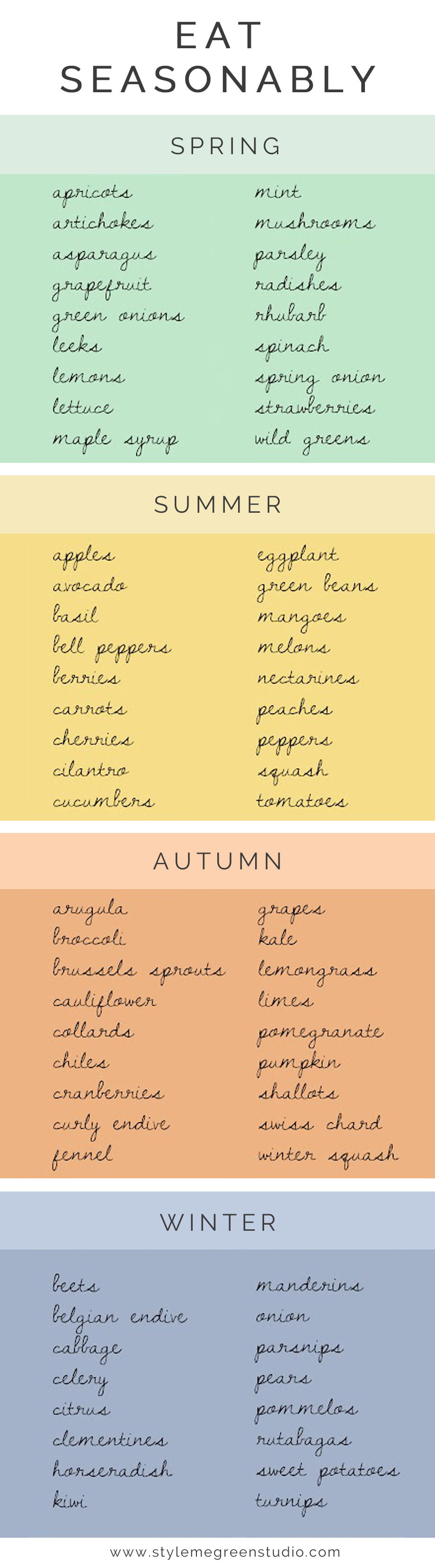 fruits and veggies in season all year round