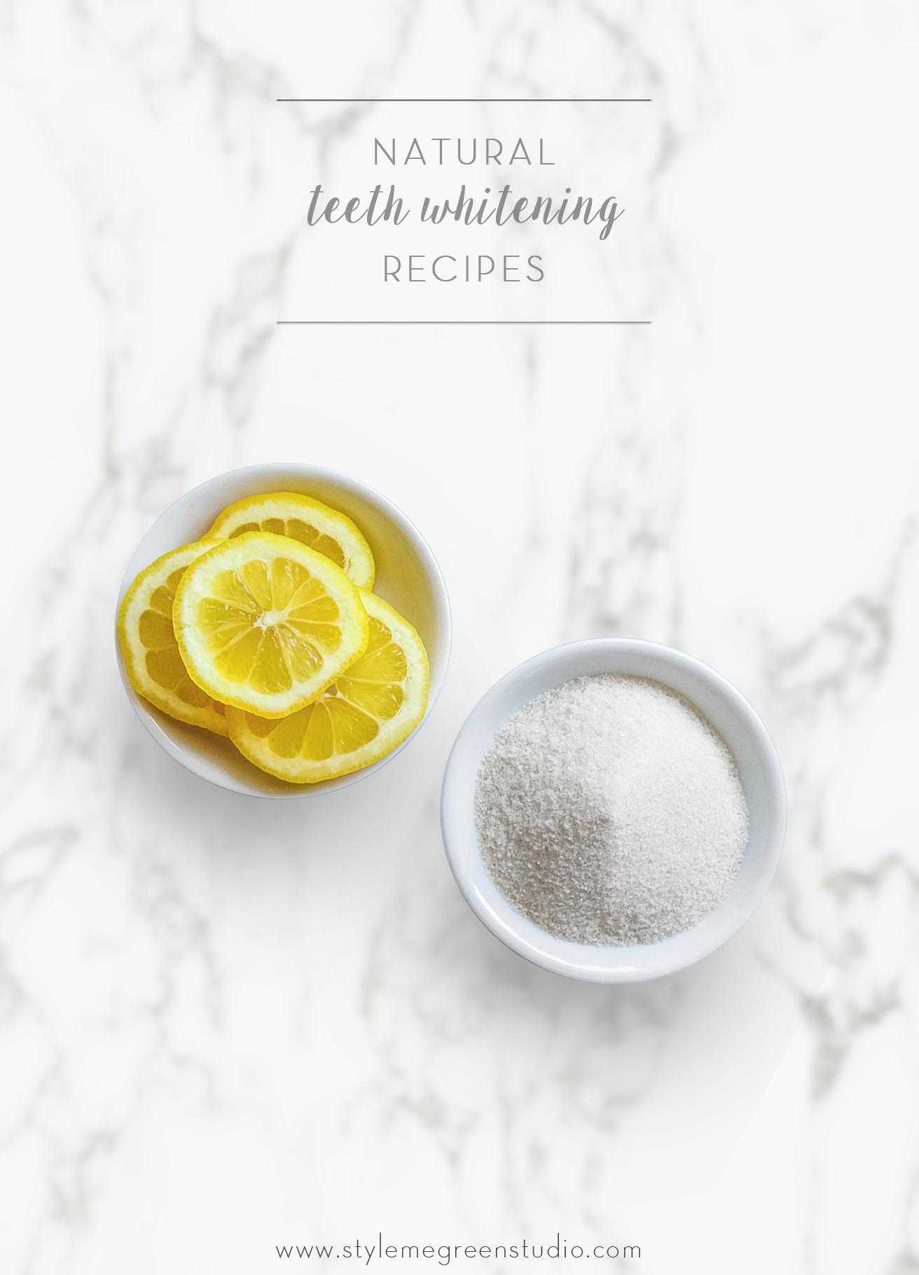 natural teeth whitening recipes