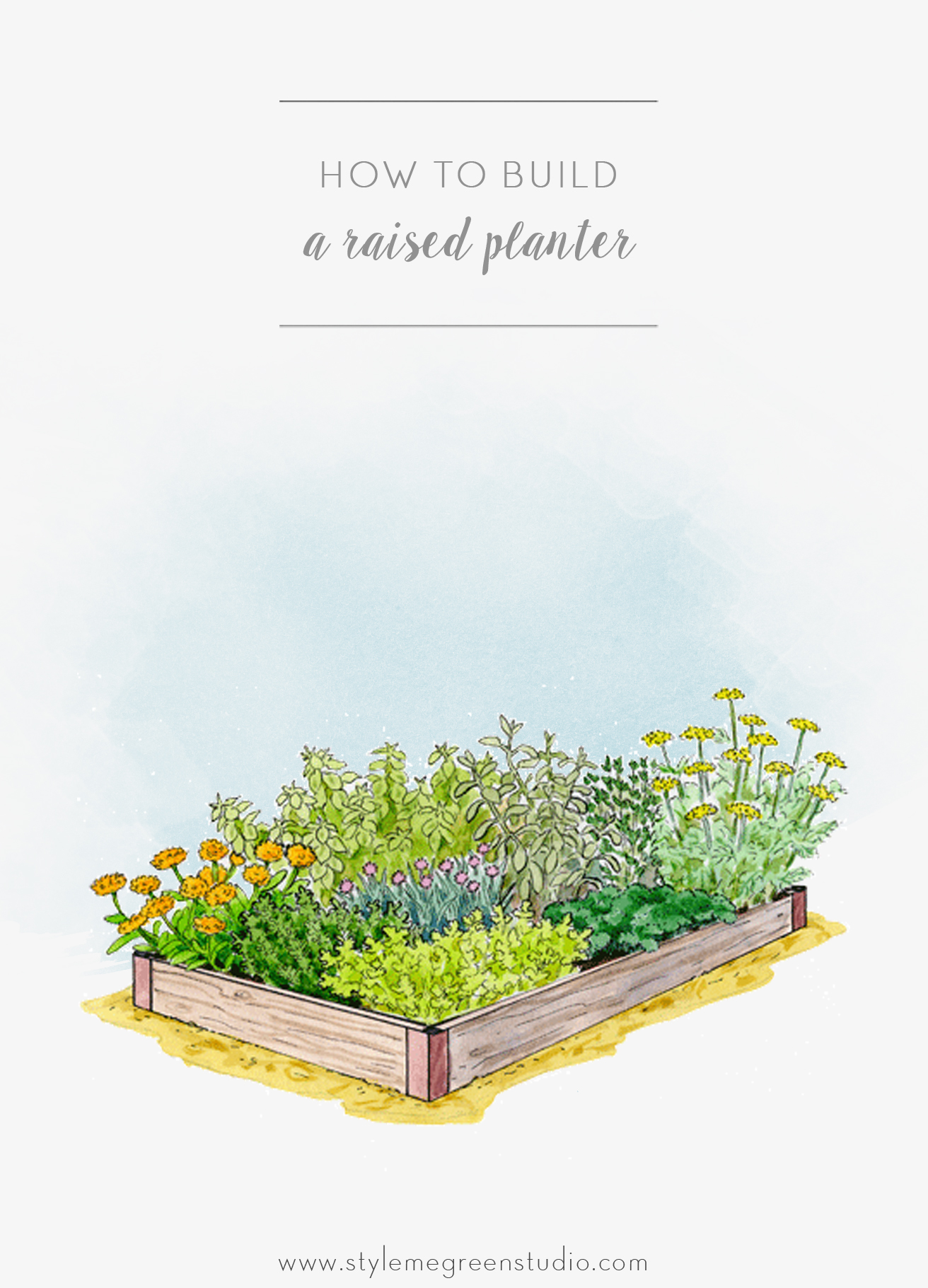 how to build a raised planter