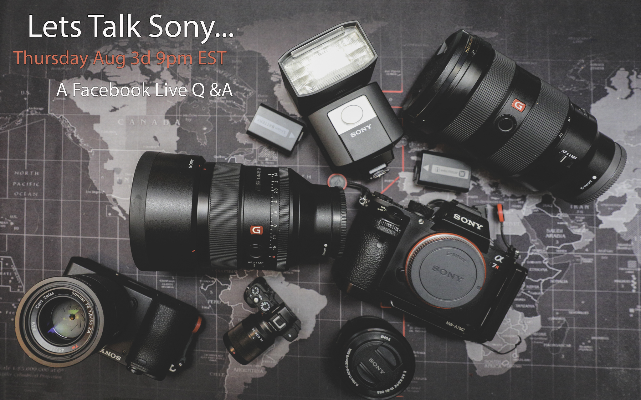 Lets Talk Sony... own a Sony.. thinking about getting one? Have questions or want tips? I will field questions, maybe have some answers and may have to wear a silly hat.. join me Thursday Aug 3d 9pm EST Sony Alpha Group  https://www.facebook.com/groups/969095406487894/