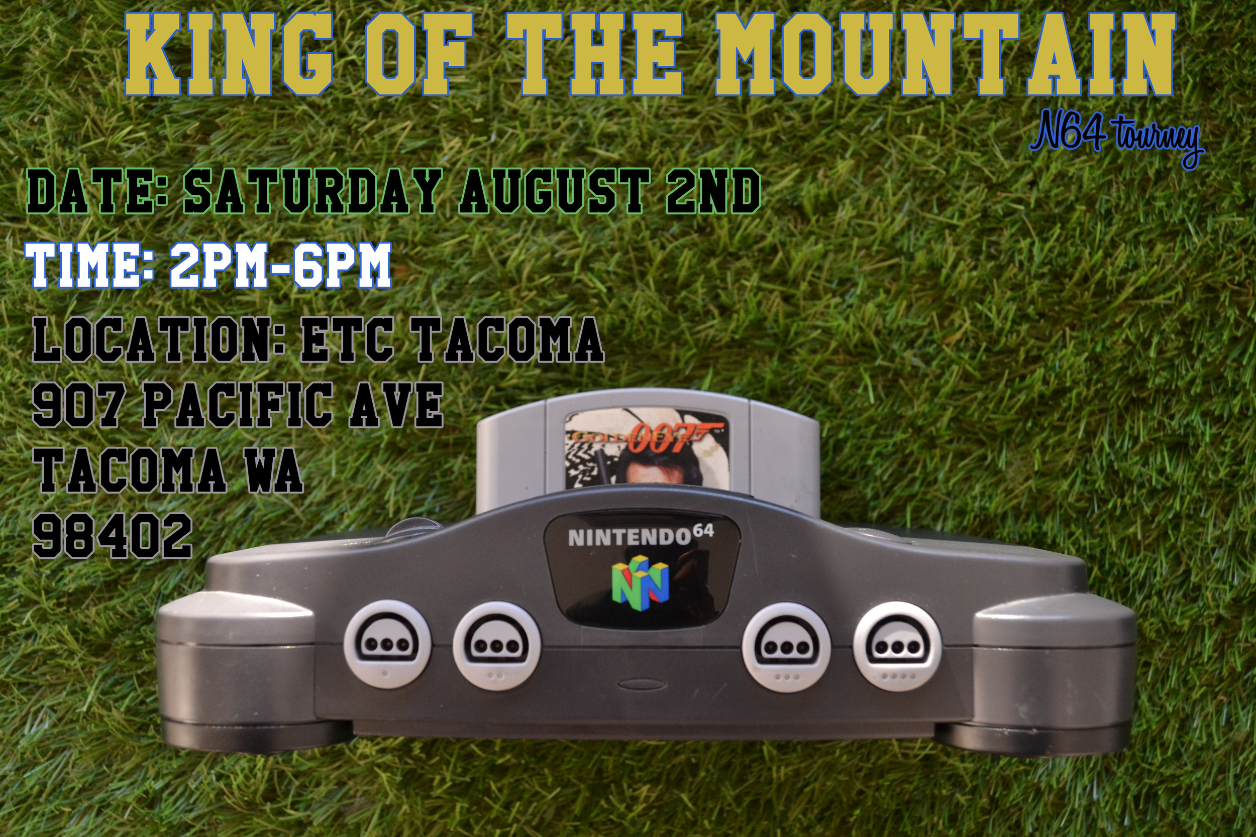 One winner per game; one prize per game - Mario Kart first; Goldeneye second. You can not join once competition has begun. You MUST sign up before, Mario Kart will commence at 2:45 or when we have 8 people signed up.