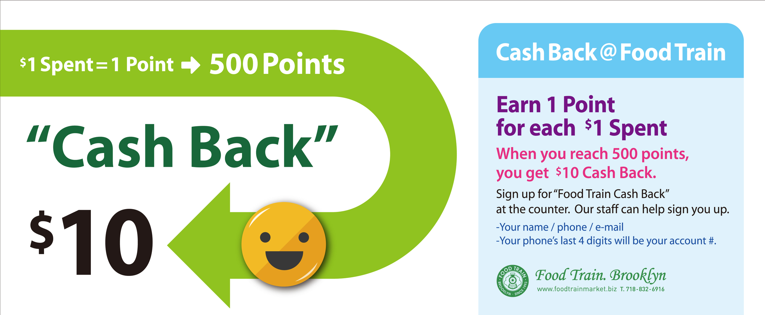 Don't forget to sign up for our cash back service! Click on the image for details.