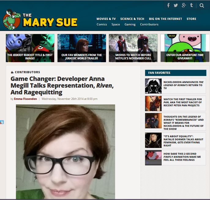 http://www.themarysue.com/game-changer-anna-megill/