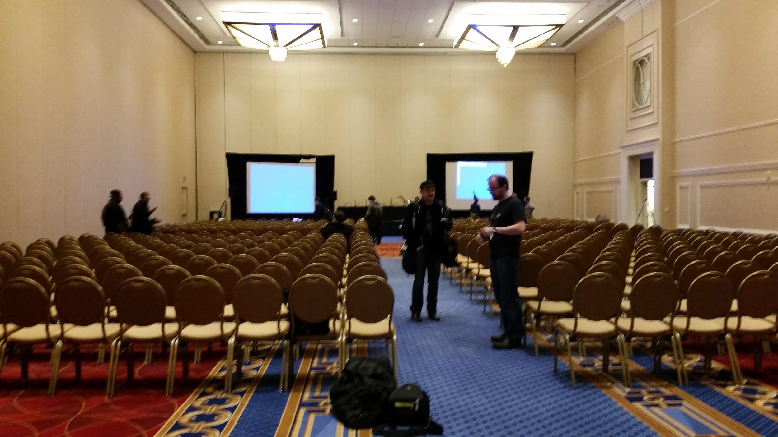 GGJ15 PreJam Power Panel room