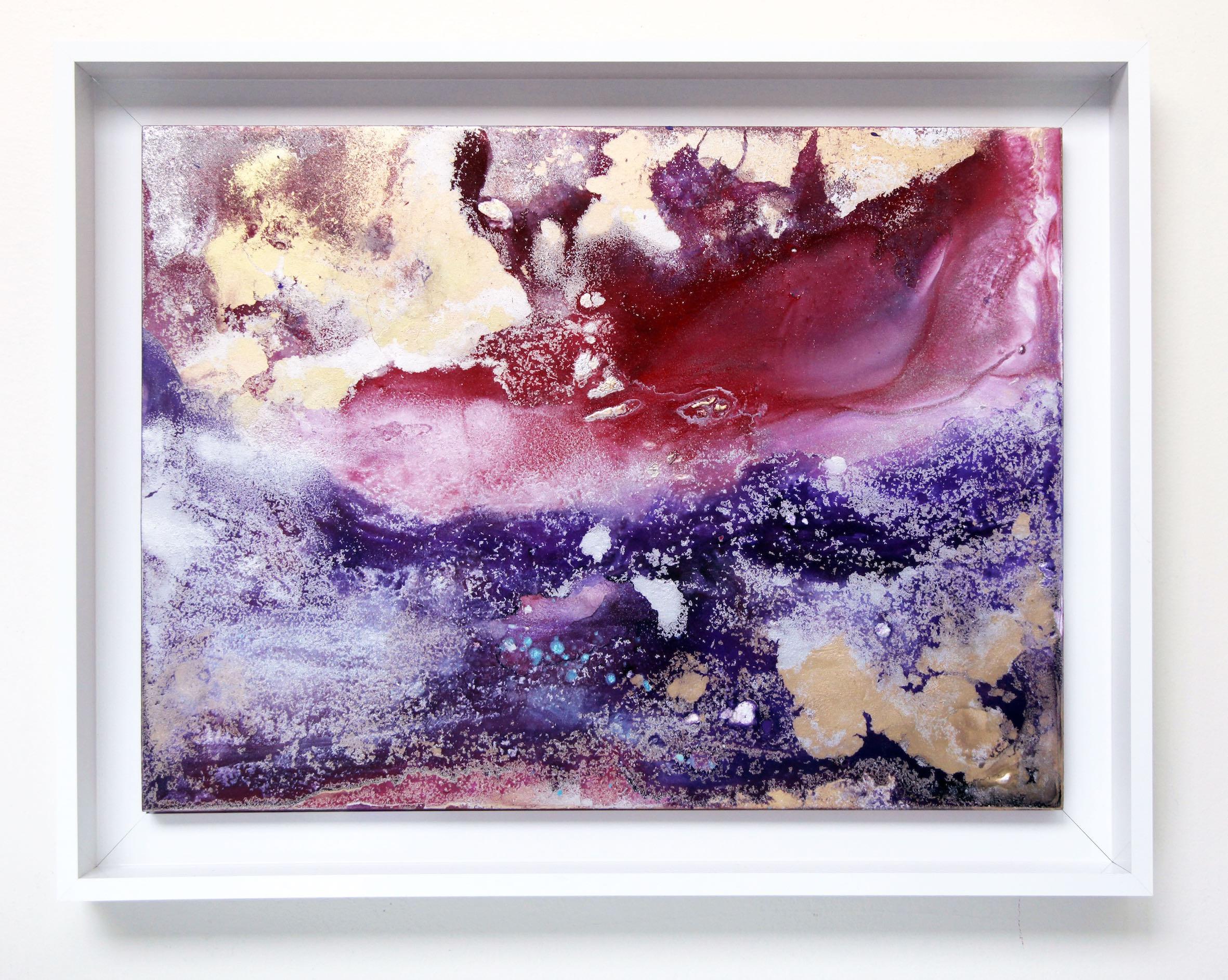 RED #2  2015  Acrylic and metal powder on board  H33.3cm x W45.5cm