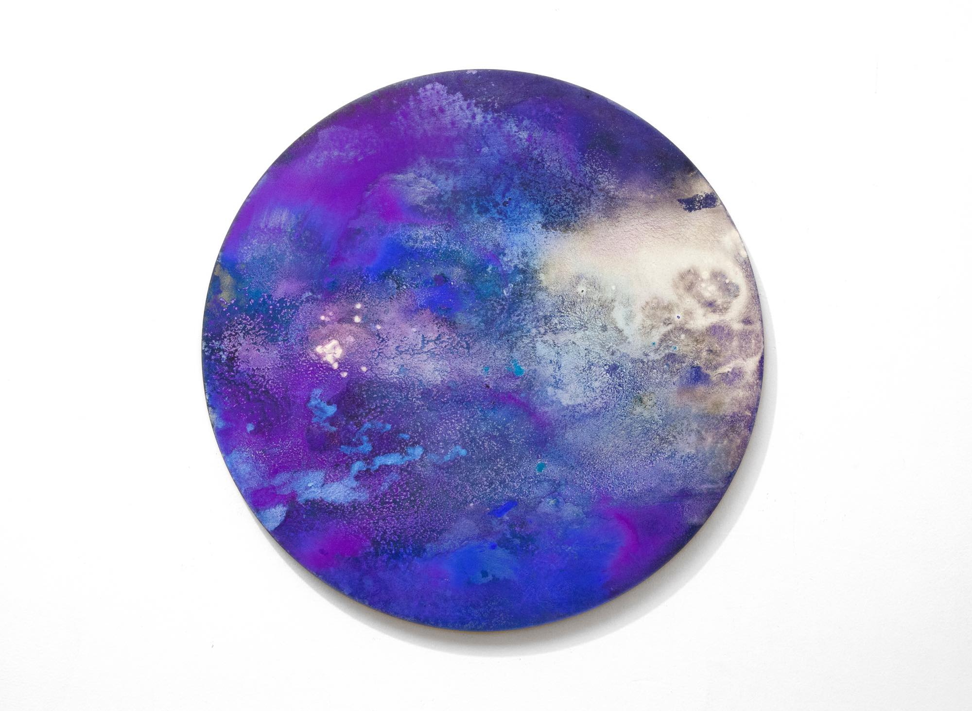 2016  Acrylic and metallic powder on board  41cm diameter