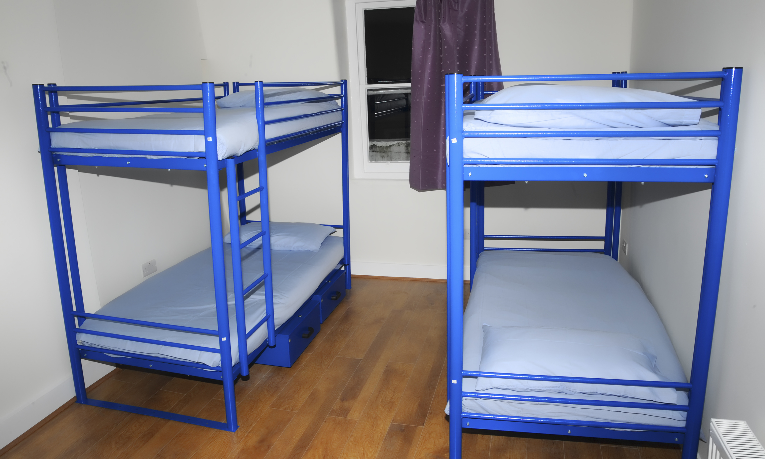 A view of our twin-bunk-bed rooms.