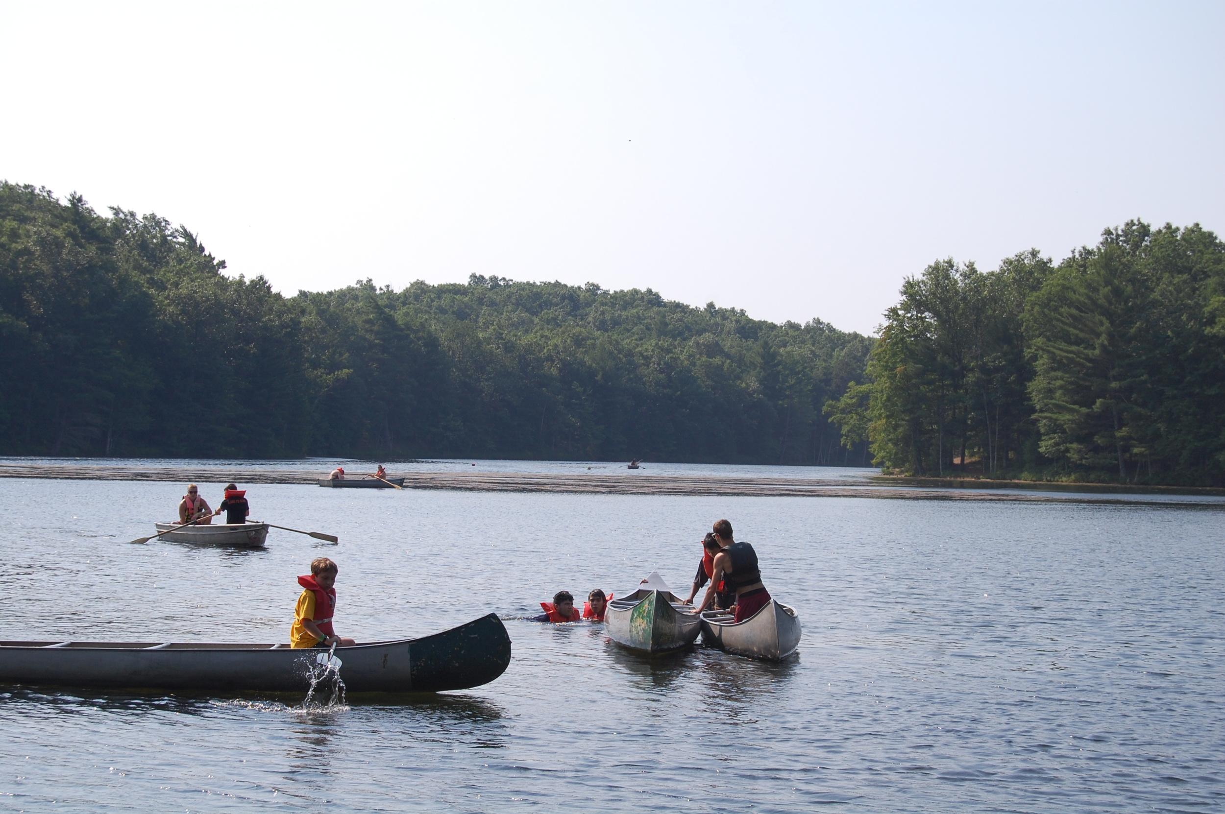 Canoeing Merit Badge on Wolverine Lake