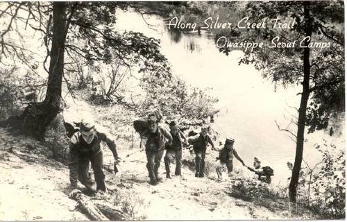 Trail Postcard -Silver Creek 1950s