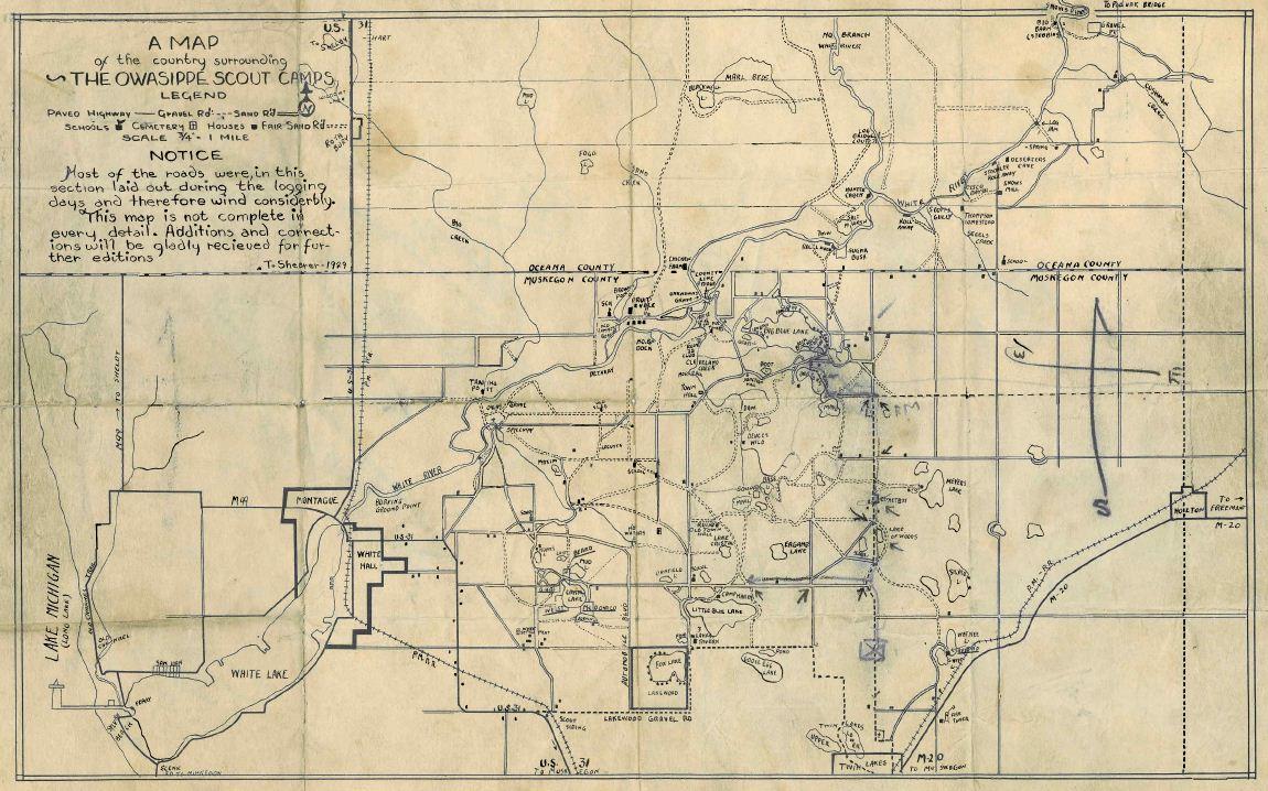 Owasippe Map 1929