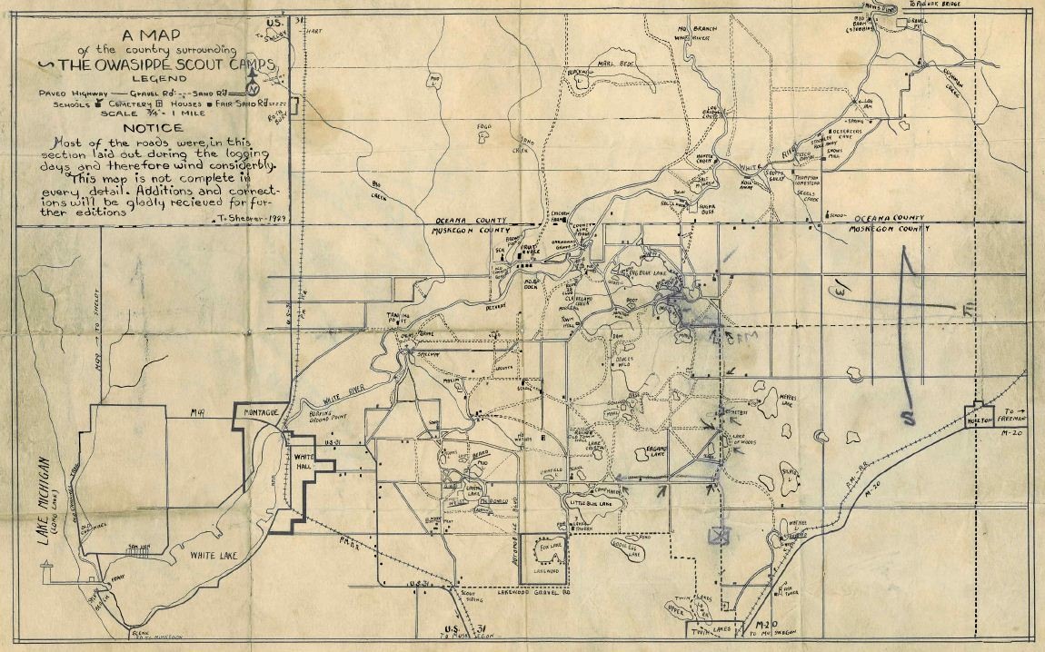 Map of OWASIPPE in 1929 (Click to enlarge)