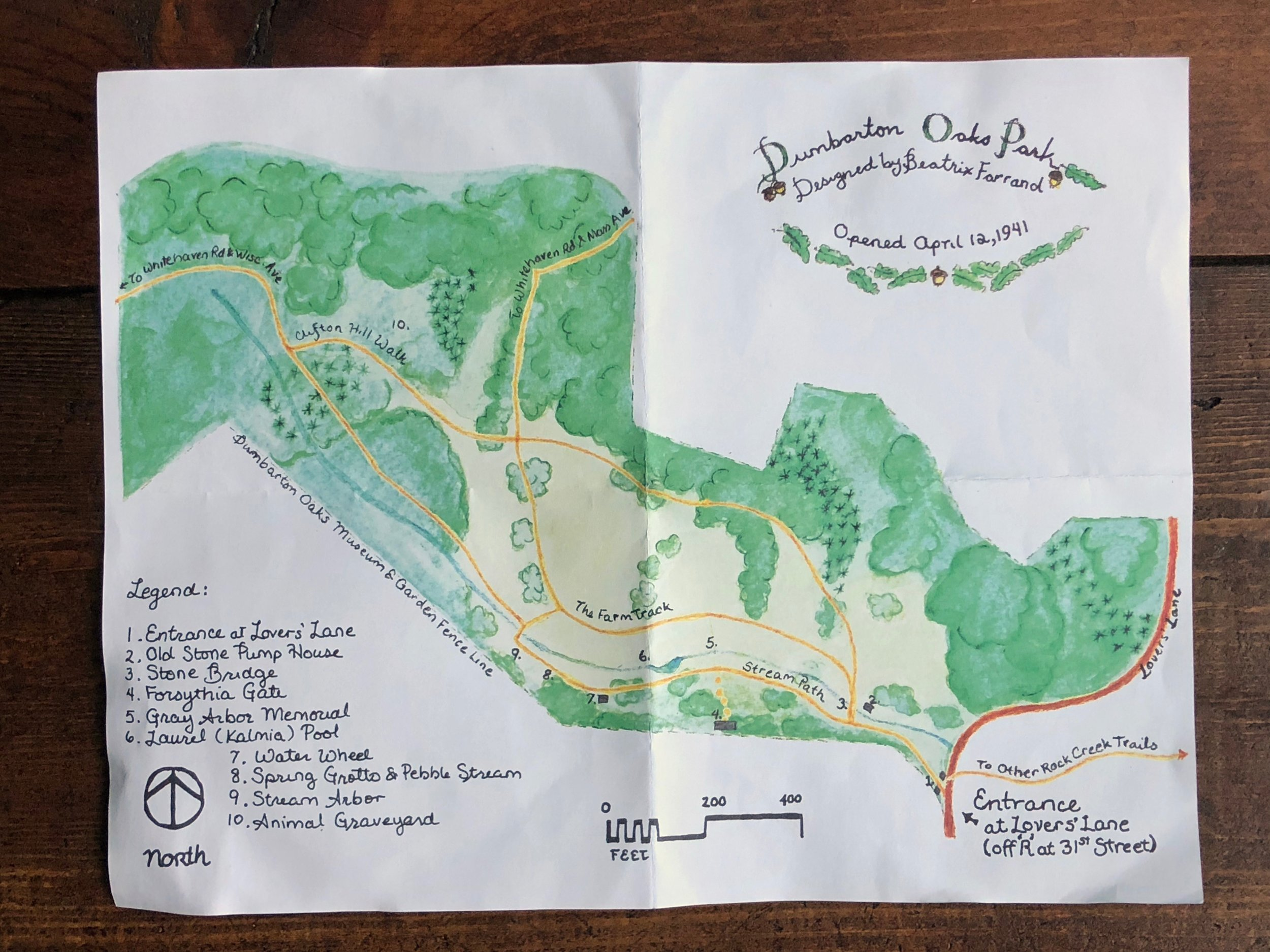The lovely map available at each trailhead