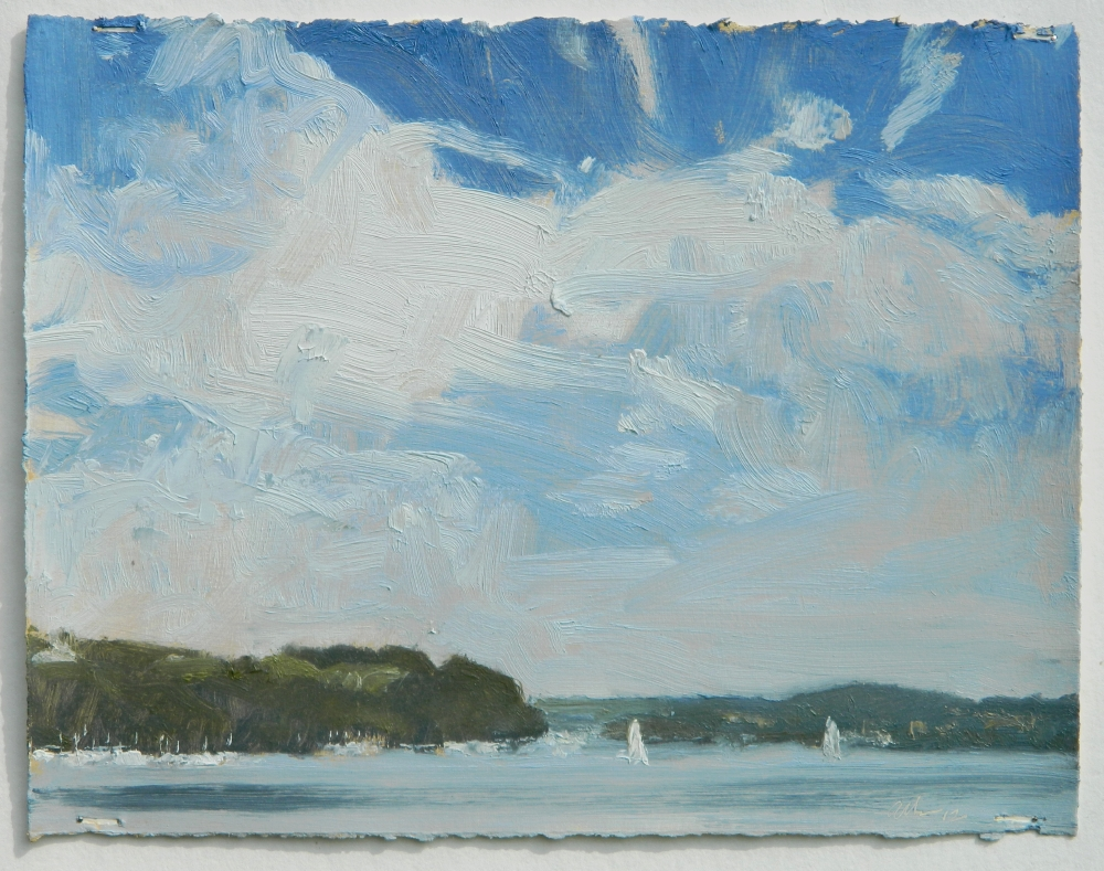 """Michael Allen , """"The Susquehanna in Late Summer"""" oil on paper, 8in.x10.25in. (retail value $1400)"""