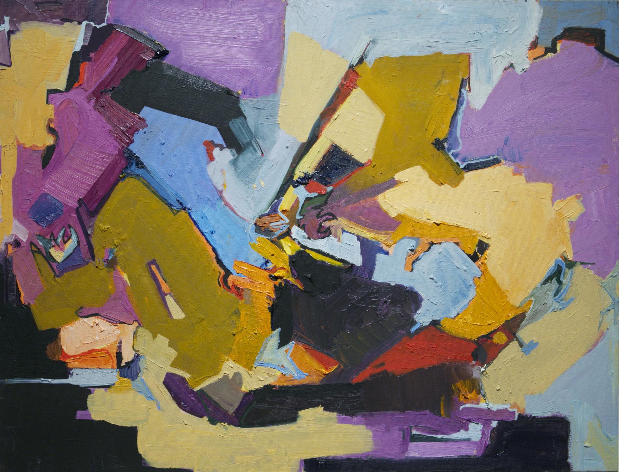 "Rita Whitney , ""Yellow Room"" oil on canvas, 22""x30"" (retail value $850)"