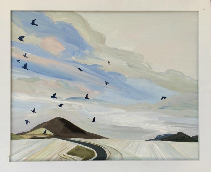 """Deidre Murphy , """"Winter at Hawk Mountain,"""" acrylic on panel, 16"""" x24"""" (retail value $750)"""
