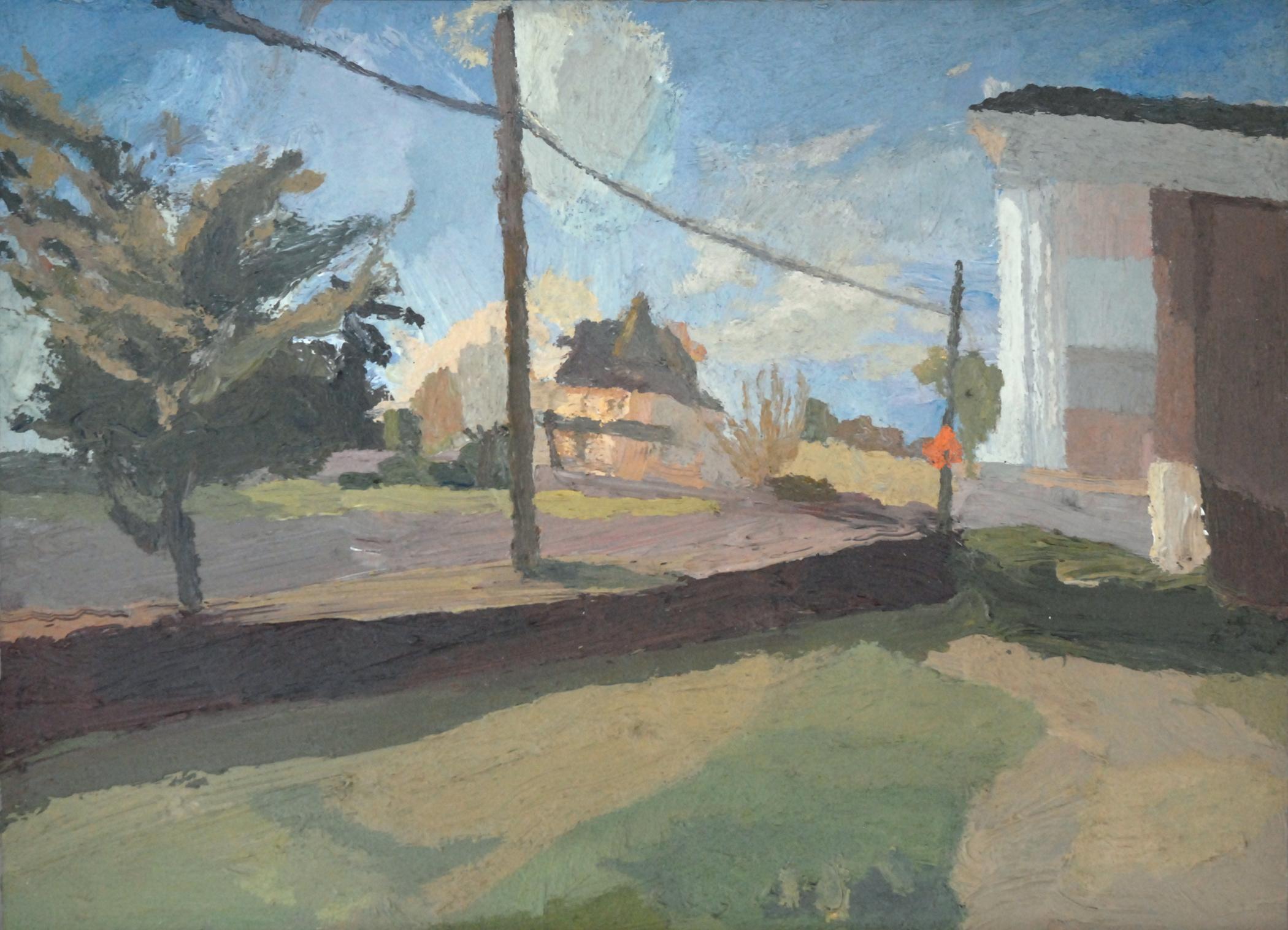 """Brian Rego , """"Dunbar House"""" oil, 11""""x15"""" (retail Value $1000)"""