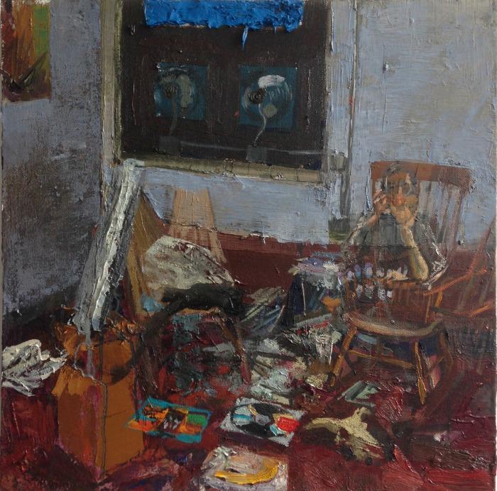 """Gideon Bok , """"Matt Phillips and Meghan Brady""""  ~23""""x22"""" -Courtesy of Steven Harvey Fine Art, New York. -(retail value $4000)"""