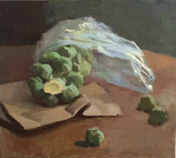 """Aaron Thompson """"The Runaways"""" oil on canvas (retail value $2400))"""