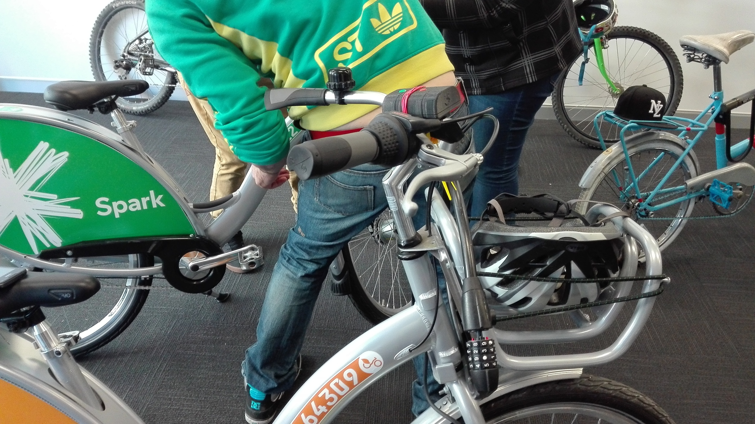 Field tests carried out with a range of cyclists including Christchurch's bike share – Spark Bike