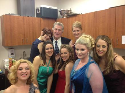 Backstage with Sherrill Milnes before a concert in Savannah, GA